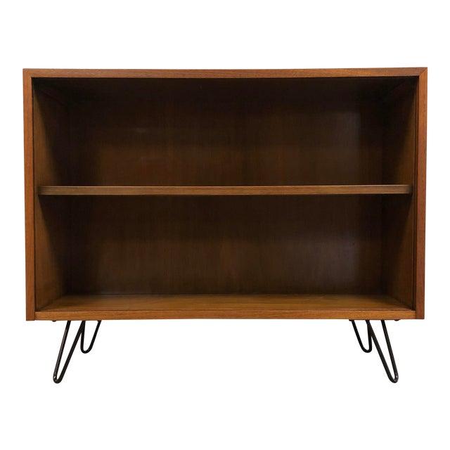 Walnut Mid Century Modern Bookcase For Sale