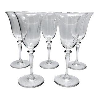 1920s Art Deco Frederick Carder Designed Steuben Crystal Stemware - 5 Pieces For Sale