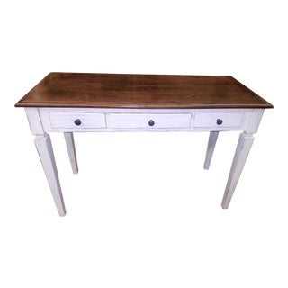 Modern Farm Style Writing Desk Console For Sale