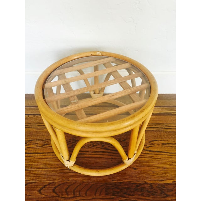 Vintage Bent Bamboo Side Table - Image 4 of 6