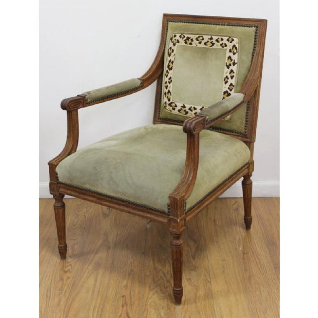 Louis XVI Louis XVI Style Open Armchairs - A Pair For Sale - Image 3 of 6