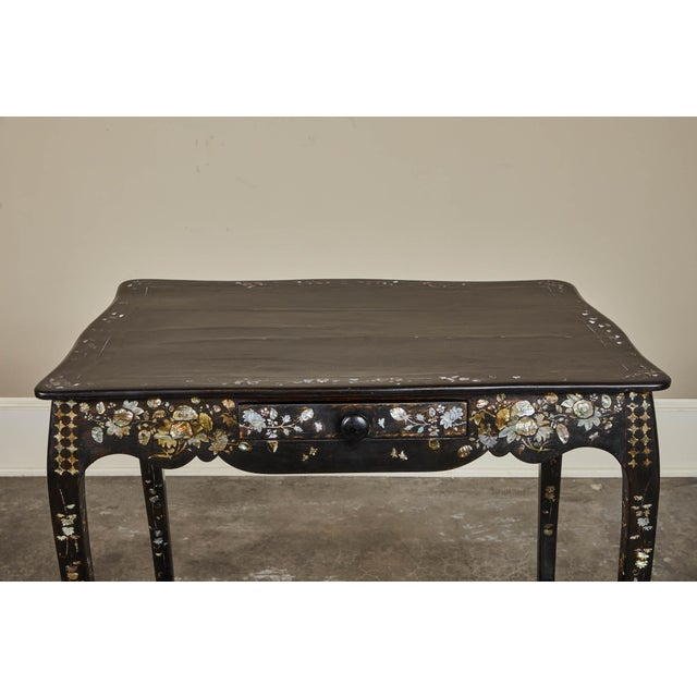19th Century French Colonial Mother of Pearl Table For Sale In Los Angeles - Image 6 of 10