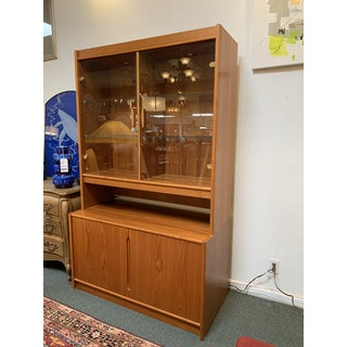 Danish Teak Two-Piece Lighted Hutch Preview