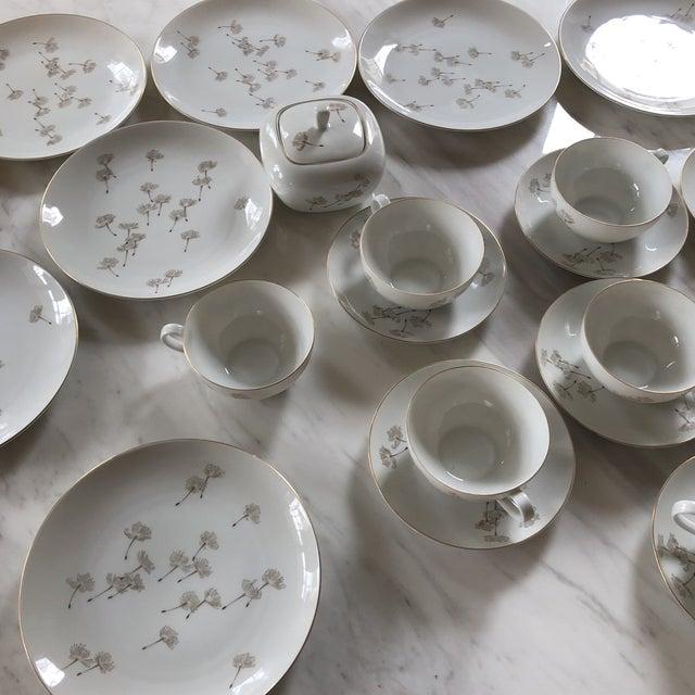 Porcelain Schonwald Dandelion Tea Cups Set - Set of 32 For Sale - Image 4 of 11