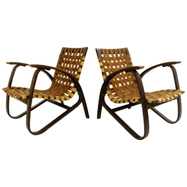 Pair of Bentwood Armchairs by Jan Vanek for Up Závody, 1930s For Sale - Image 9 of 9