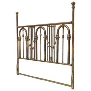 King Size Large Brass Headboard For Sale