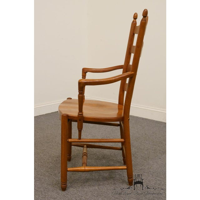 Late 20th Century Late 20th Century Vintage Tom Seely Cherry Ladder Back Dining Chair For Sale - Image 5 of 10