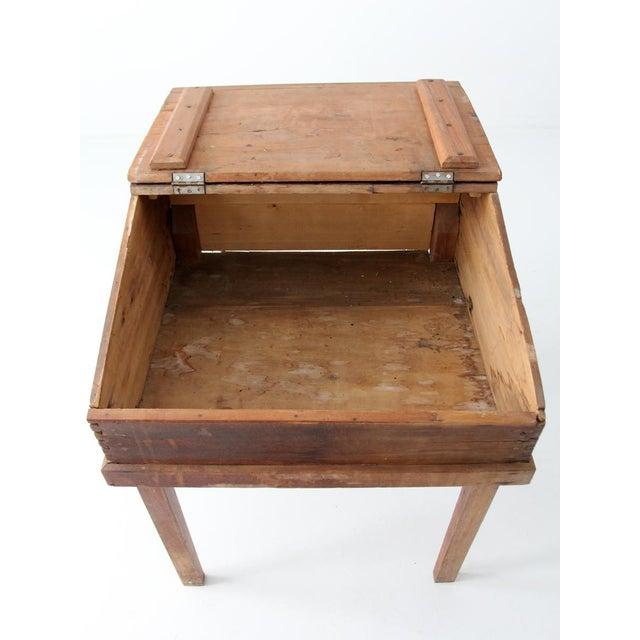 Antique Slant Top Desk For Sale - Image 6 of 10 - Antique Slant Top Desk Chairish