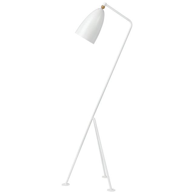 Mid-Century Modern Greta Magnusson Grossman 'Grasshopper' Floor Lamp in White For Sale - Image 3 of 3
