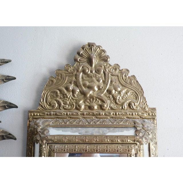 Vintage Brass Cabinet Mirror - Image 3 of 7
