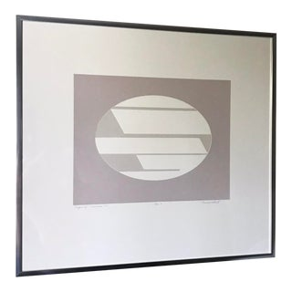 """1970s Vintage Donald Roberts """"Ossipee"""" Abstract Serigraph Print For Sale"""