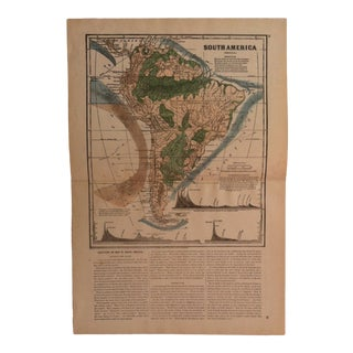 "Antique Geography Map ""South America"" Sheldon & Company 1867 For Sale"
