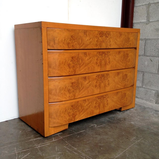 Art Deco Burl Wood Dresser - Image 4 of 5