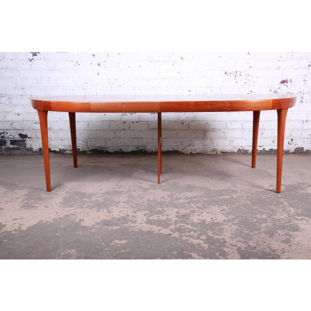 Wood Ib Kofod-Larsen and Torbjorn Afdal Scandinavian Modern Teak Dining Set For Sale - Image 7 of 13