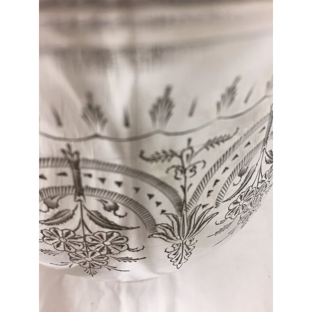Metal Antique Etched Silver Vase For Sale - Image 7 of 10