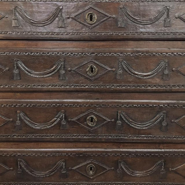 Brown 18th Century Country French Louis XVI Commode For Sale - Image 8 of 12
