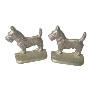 Mid Century Scottish Terrier Bookends - a Pair For Sale