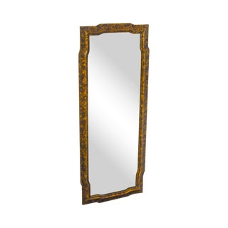 John Widdicomb Faux Tortoise Shell Painted Vintage Wall Mirror