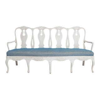 SWEDISH ROCOCO BENCH For Sale