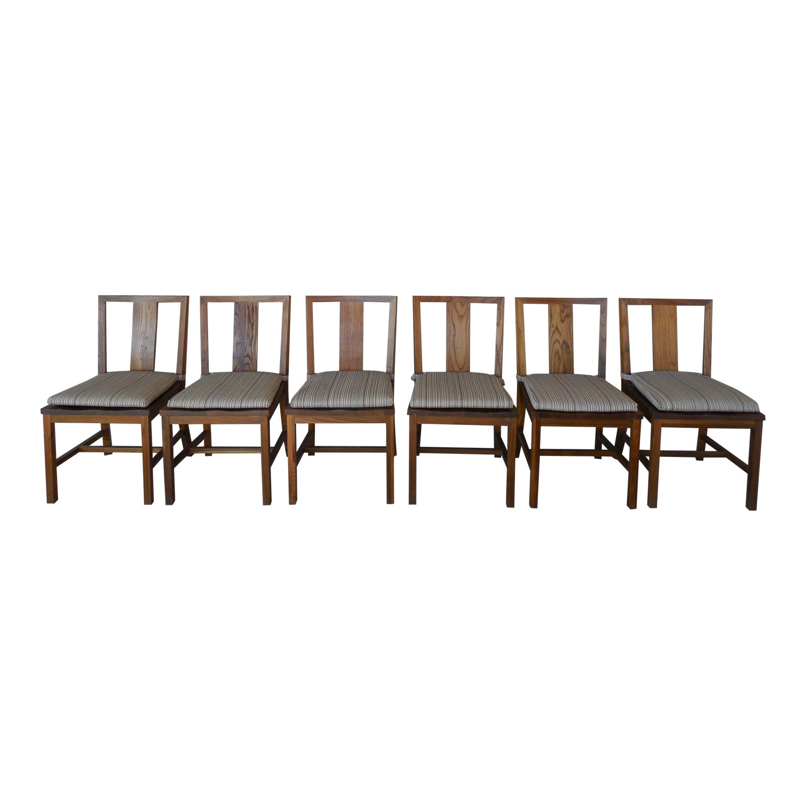 Crate Amp Barrel Arts Amp Crafts Style Teak Chairs Set Of 6