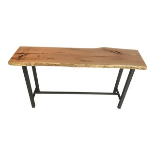 Industrial Style Solid Maple Console Table