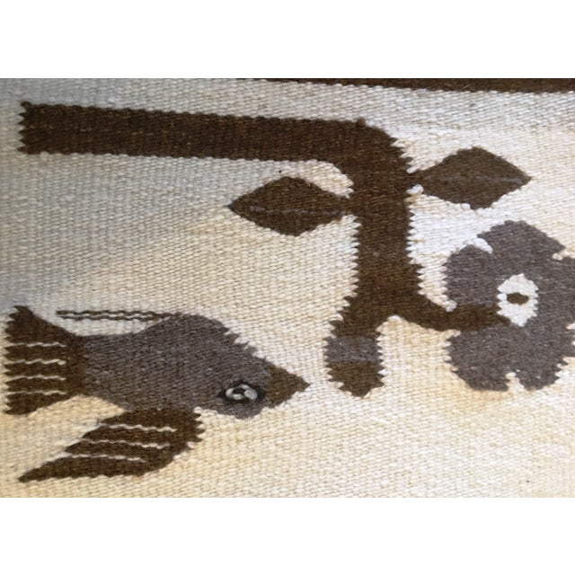 1970s Vintage Wall Tapestry / Area Rug - 4′5″ × 6′3″ For Sale In Palm Springs - Image 6 of 11