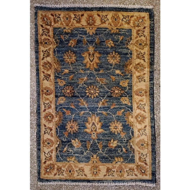 "Afghan Floral Rug-2'x3"" For Sale - Image 4 of 7"