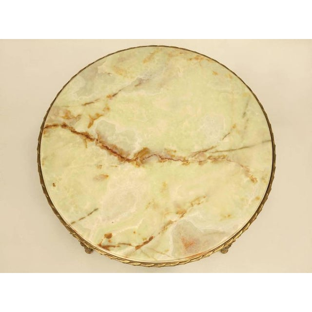 Green Maison Bagues Bronze Coffee Table With Onyx Top For Sale - Image 8 of 10