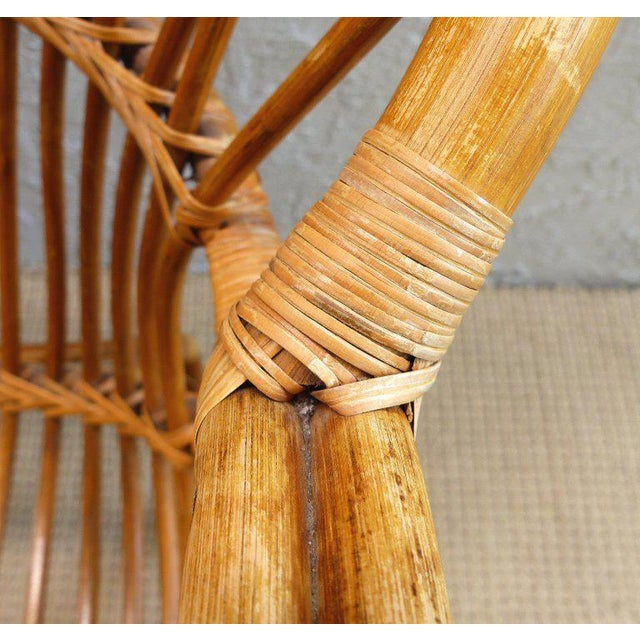 Lights 1970s Italian Bent Rattan Loveseat For Sale - Image 7 of 11