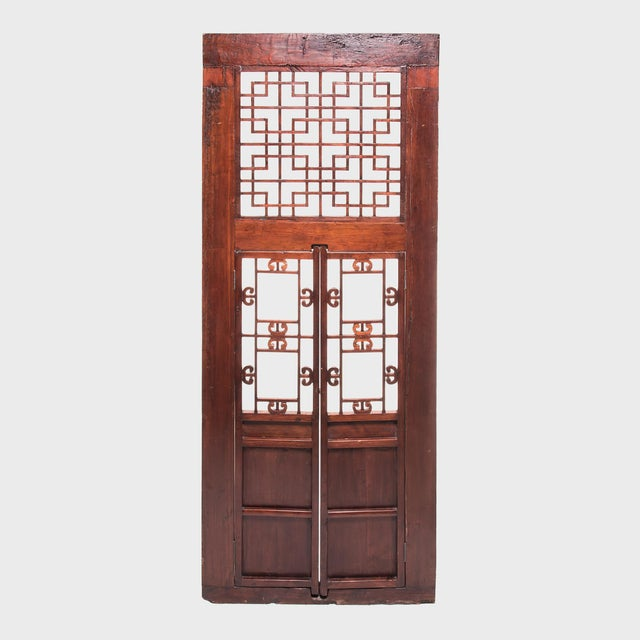 Asian 19th Century Chinese Lattice Doorway For Sale - Image 3 of 6