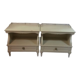 Pair of Mid Century Louis XV Nightstands by Karges Furniture For Sale