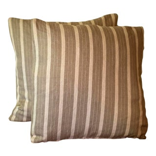 Rogers & Goffigon Linen Striped Pillow Covers - a Pair For Sale