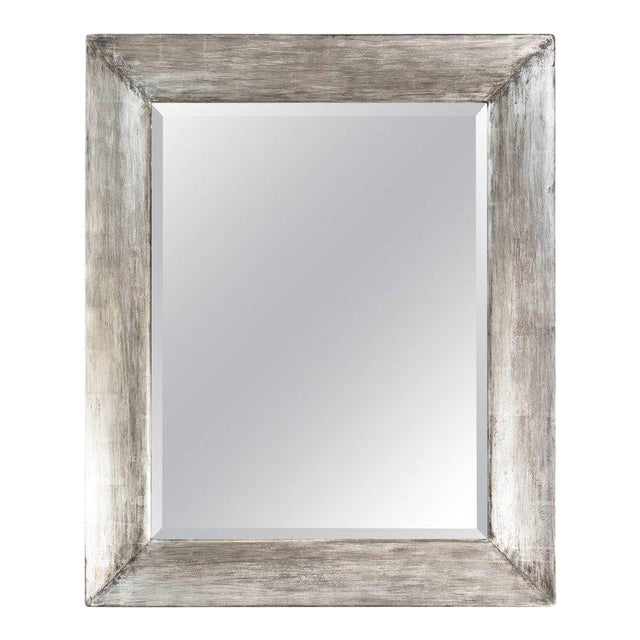 Paul Marra Distressed Silvered Frame Mirror For Sale