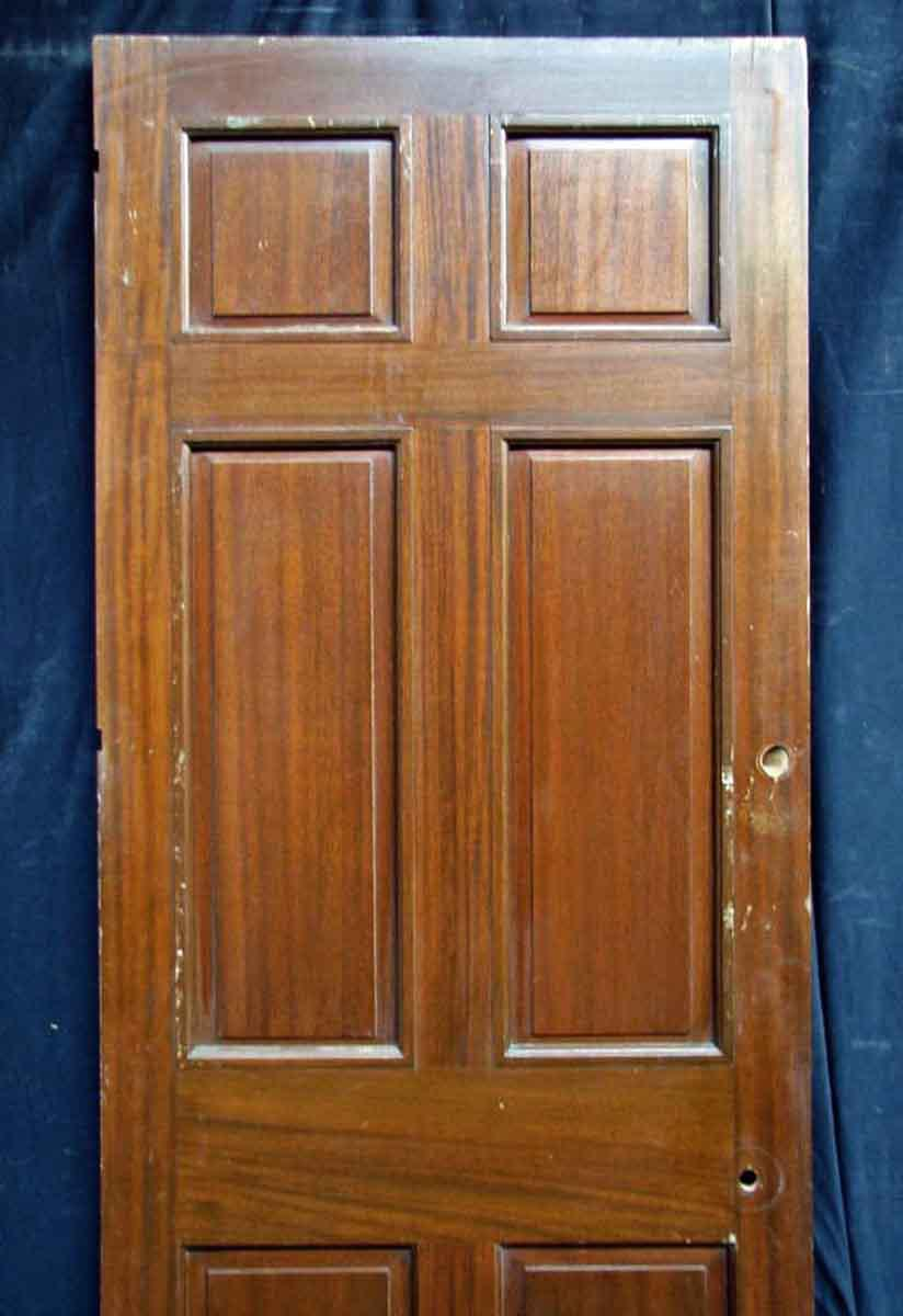 Reclaimed Antique Mahogany Veneer Door - Image 3 of 10  sc 1 st  Chairish & Reclaimed Antique Mahogany Veneer Door | Chairish