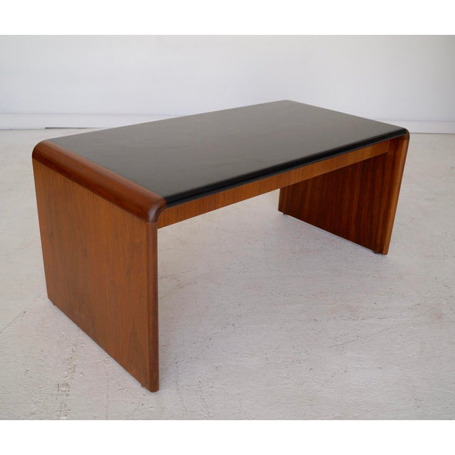 Mid-Century Teak Waterfall Edge Coffee Table - Image 2 of 11