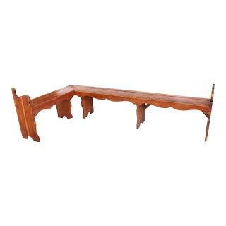 Antique Danish L-Shape Bench For Sale