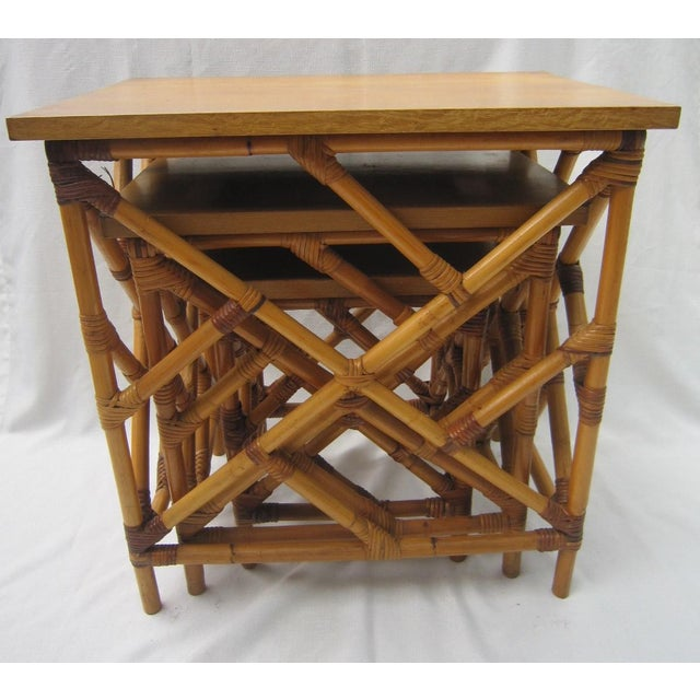 Fretwork Nesting Tables - S/3 - Image 6 of 6