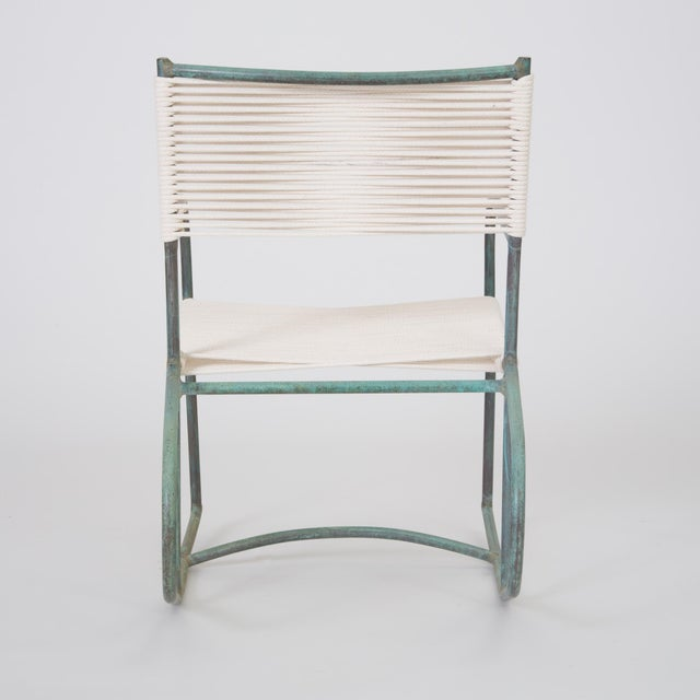 Bronze Early Model Walter Lamb Patio Rocking Chair For Sale - Image 7 of 11