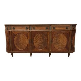 Early 20th C Italian Walnut Sideboard Credenza For Sale