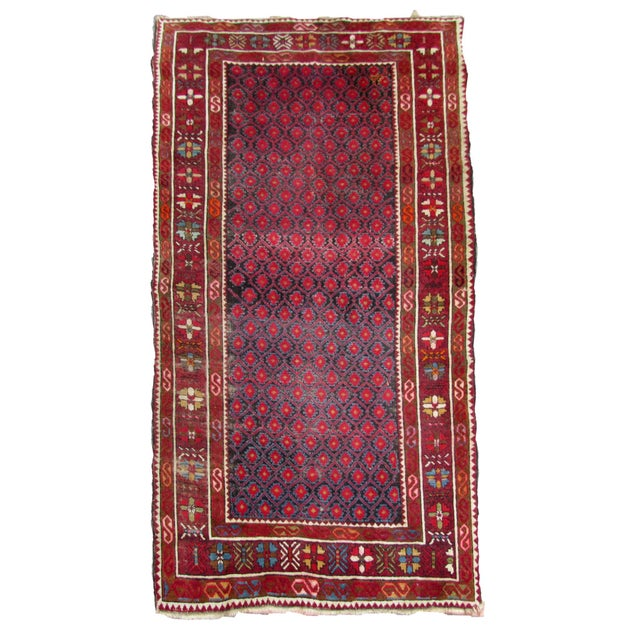 1910s, Handmade Antique Afghan Baluch Rug 3.1' X 5.9' For Sale - Image 13 of 13