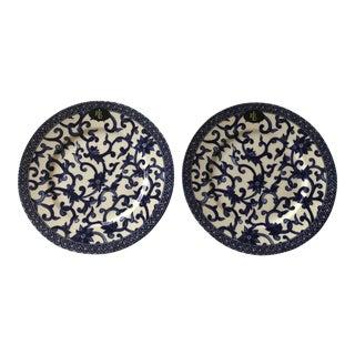 Americana Ralph Lauren Mandarin Blue China Plates – a Pair