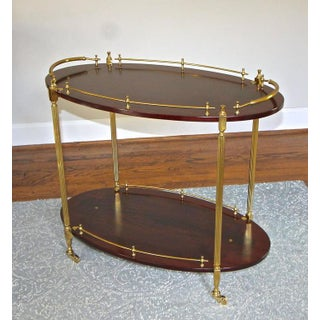 French Wood Mahogany & Brass Bar Tea Cart Preview
