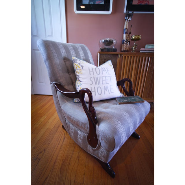 Strange Antique 1930S Swan Arm Gooseneck Rocking Chair Ibusinesslaw Wood Chair Design Ideas Ibusinesslaworg