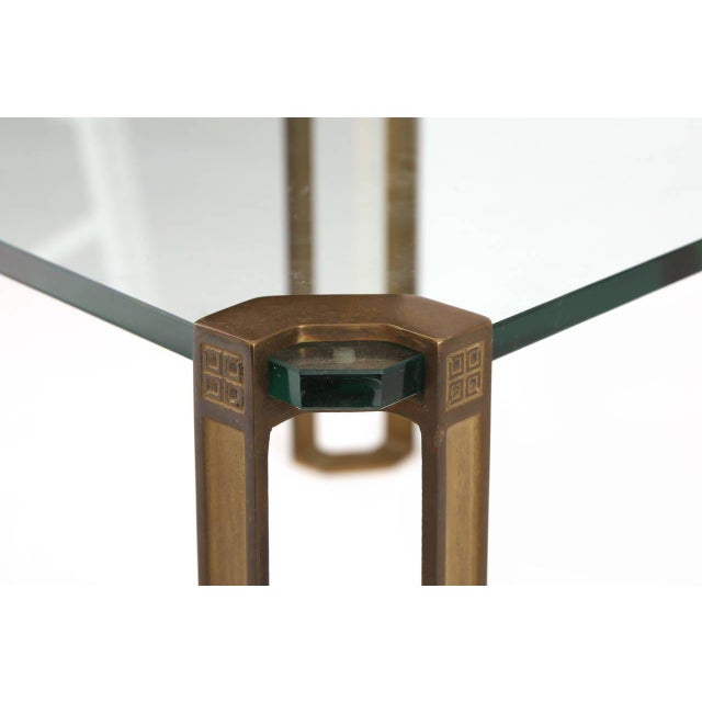 1970s Bronze and Glass Table by Peter Ghyczy For Sale - Image 5 of 7