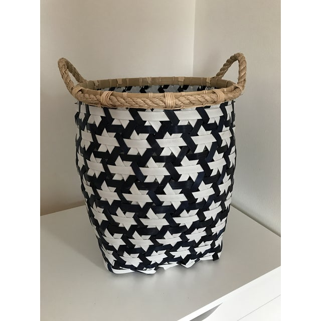 Anthropologie Starry Night Woven Basket - Image 2 of 9