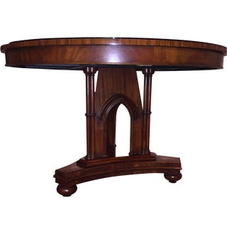 "Maitland Smith Inlaid Burl 48"" Center Hall Table"