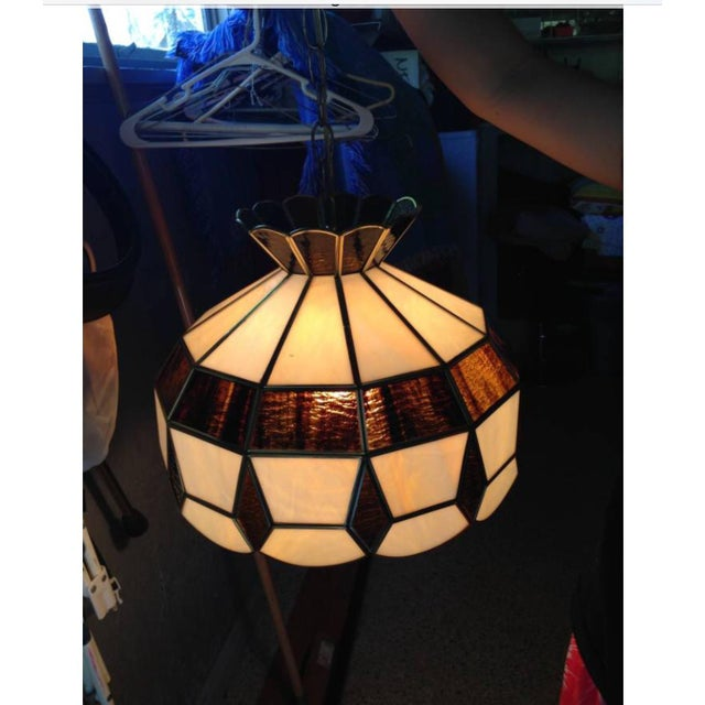 Vintage Tiffany Style Hanging Lamp - Image 7 of 8
