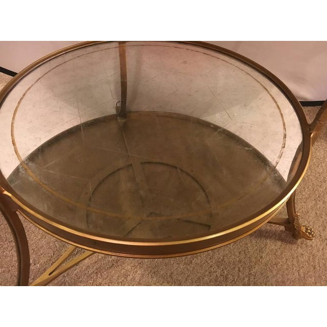 Hollywood Regency Style Gilt Based Eglomise & Mirror Top Gueridon Centre Table For Sale In New York - Image 6 of 10