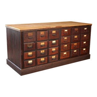 Apothecary Cabinet / Store Counter With Storage For Sale