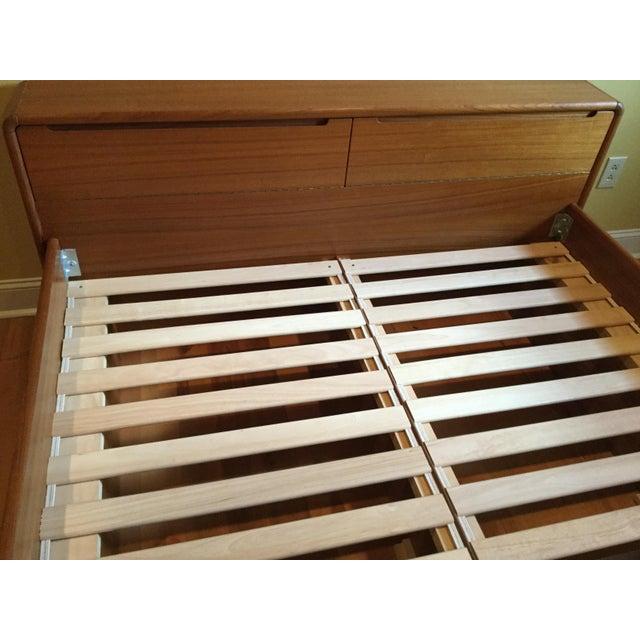 Teak Queen Bed Frame - Image 9 of 11